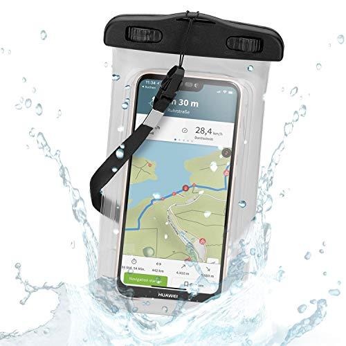 Wicked Chili IPX8 wasserdichte Schutztasche kompatibel mit Huawei, OnePlus, HTC, ZTE, Sony, Xiaomi, Nokia, Motorola, Smartphones & Handys mit 4,0-5,2 Zoll - Outdoor Schutzhülle für Strand, Wandern