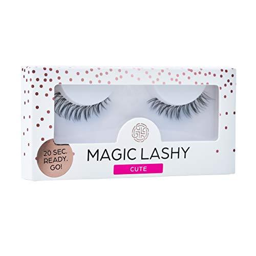 MAGIC LASHY – Cute || falsche Wimpern | unsichtbares Wimpernband (ohne Wimpernkleber) | transparentes Band | leicht, wiederverwendbar, cozy