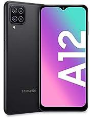 "Samsung Galaxy A12, Smartphone, Display 6.5"" HD+, 4 Fotocamere Posteriori, 64 GB Espandibili, RAM 4 GB, Batteria 5000 mAh, 4G, Dual Sim, Android 10, 205 g, Ricarica Rapida [Versione Italiana], Nero"