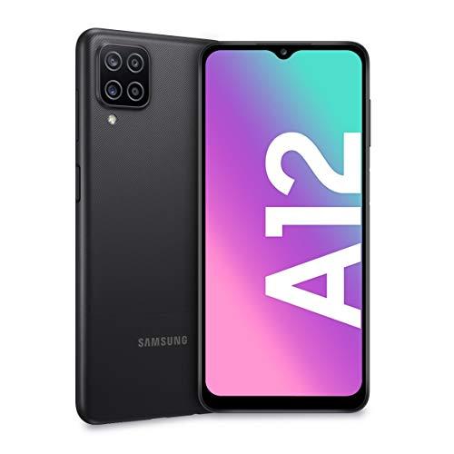 Samsung Galaxy A12, Smartphone, Display 6.5' HD+, 4 Fotocamere Posteriori, 64 GB Espandibili, RAM 4 GB, Batteria 5000 mAh, 4G, Dual Sim, Android 10, 205 g,...
