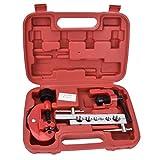 Kit di utensili per svasatura di precisione con custodia, strumento per tubi freno in acciaio per il taglio e l'espansione di tubi in rame e alluminio