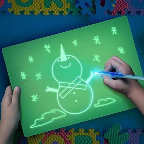 Pizarra Mágica de Luz, AGM Tablero Luminoso A4 para Dibujar en la Oscuridad – Para Dibujar y Pintar Regalo de 3 a 12...