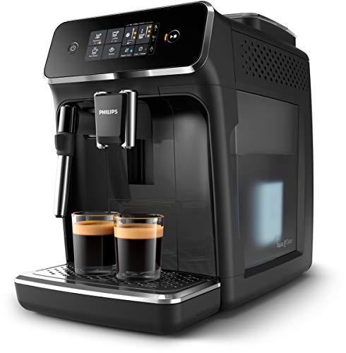 Automatyczny ekspres do kawy Philips z serii 2200 - 2 rodzaje kaw - Intuicyjny panel sterowania - Klasyczny spieniacz do mleka - Idealna temperatura i aromat - Ceramiczne młynki - EP2221 40