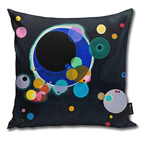 Paiman Mehrere Kreise Abstrakte Malerei Kissenbezüge 45*45cm für Couch Farmhouse Outdo