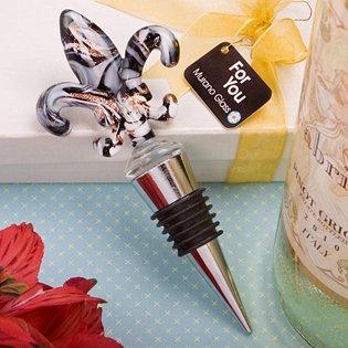 Murano Fleur de lis Wine Bottle Stopper Wedding Favors, 72