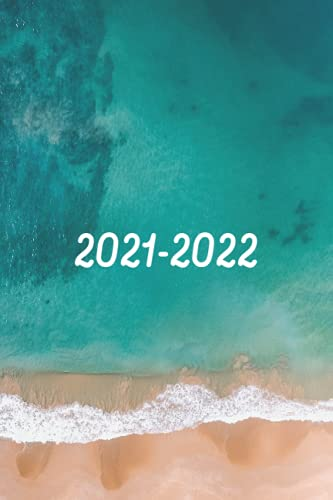 Planner 2021-2022 for Women: Weekly Monthly Calendars, Jul 2021 – Dec 2022, 18-Month Agenda: Beach