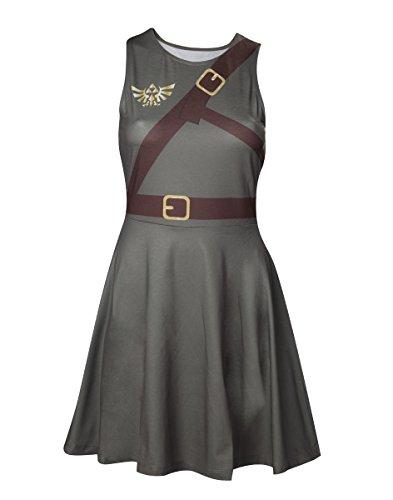 Bioworld Zelda Link Cosplay mini jurk olijf