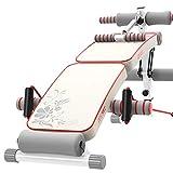 Abdominales plegables Sit Up Banco AB Inclinación de declive Entrenamiento Bancada de abdominales, Banco de pesas blanco Para ejercicios de todo el cuerpo, Colchoneta de gimnasia Dispositivo de ejerci