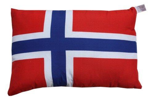 Unbekannt Norwegen Kissen Fan Artikel Auto Deko Norwegen beide, ca. 28 x 40 cm.