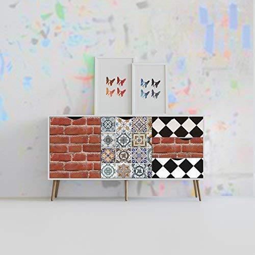 Walplus Meuble Emballage Autocollant Décalcomanie Autocollant Mural, Vinyle Multicolore, 90 X 60 X 4 CM
