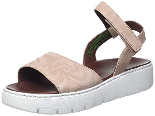 THINK! Damen Sing_3-000374 chromfrei gegerbte, nachhaltige Riemchen Sandale, 4000 Hibiskus/Kombi, 38 EU