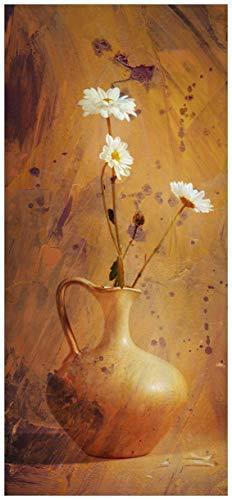 posterdepot ktt0222 Türtapete Türposter Antike Vase mit Blumen-Größe 93 x 205 cm