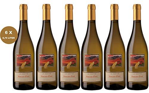 6 x Vite Colte La Gatta Weißwein Moscato d'Asti Piemonte DOCG - 2018