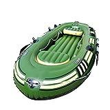 Bewinch Kayak Hinchable, Barco Inflable con Los Remos, PVC Inflable Barco Marino Barco De Aire Herrado 6 Persona Barba Inflable Barco De Pesca, Soporte hasta 460Kg