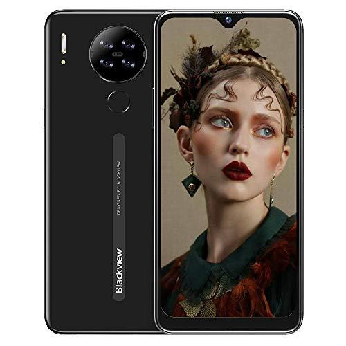 "Teléfono Móvil Libre 4G, Blackview A80S Smartphone, Android 10 Octa-Core, 6.21"" HD+ IPS Water-Drop Screen Teléfono Libre, 4GB+ 64GB, 4200mAh, 13MP+5MP, Dual SIM/GPS/Face ID"
