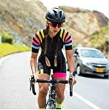 Donne Professione Triathlon Vestiti Abbigliamento da ciclismo Skinsuits Rompere da donna tuta TRIATHLON Kit &12373 (Color : 5, Size : X-Large)