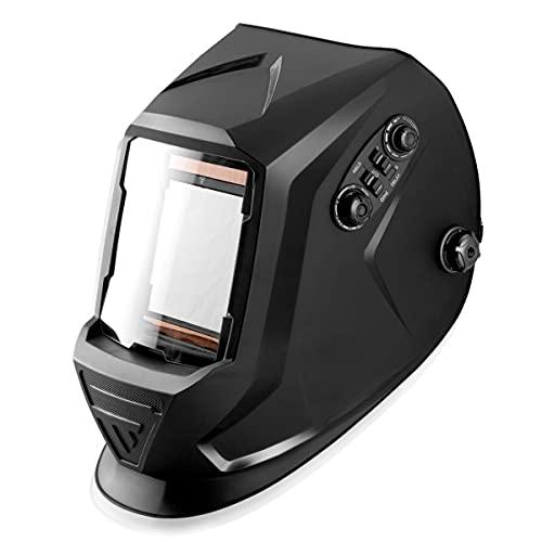 STAHLWERK ST-990 XTC REAL COLOUR Vollautomatik Schweißhelm Schweißermaske Optische Klasse 1/1/1/1 mit extra großem Sichtfeld inklusive 5 Ersatzscheiben und Tasche, 7 Jahre Garantie auf Filter