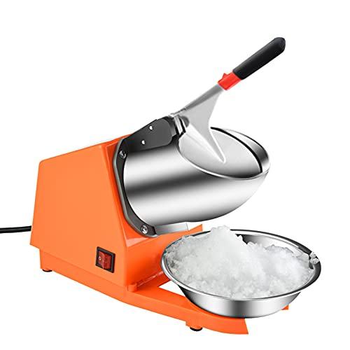 Trituradora de Hielo Eléctrica de 300W,Picadora Trituradora de Hielo Profesional con Palas Dobles,Fabricadora de Hielo con Cuenco de Acero y Función de Apagado Automático,para Bares y Restaurantes