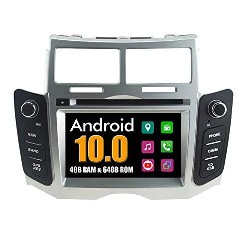 RoverOne Sistema Android Lettore DVD per Auto per Toyota Yaris 2005-2011 con Multimedia Radio Stereo Navigazione GPS Bluetooth USB Mirror Link