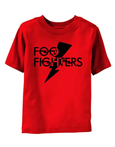 Foo Fighters Kids T Shirt Logo Nuovo Ufficiale Rosso (3-6 Months) Size s