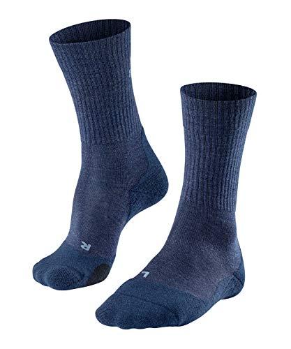 FALKE Herren Wandersocke TK2 Wool M SO, 1 Paar, Blau (Jeans 6670), 44-45