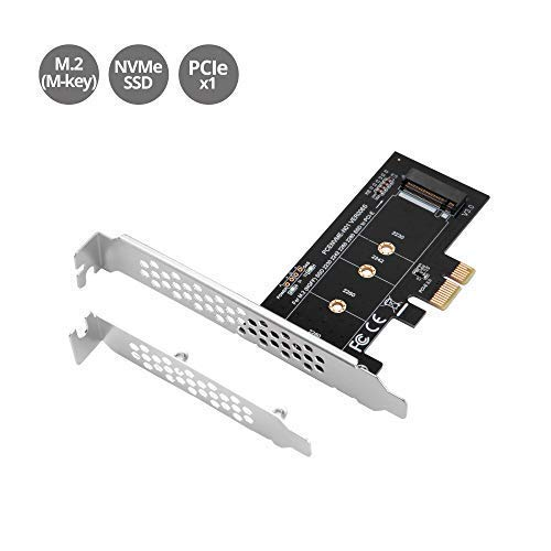 SIIG M.2 SSD M Key Nvme PCIe 3.0 X4 Card Adapter with Low and Full Profile Bracket - Supports M.2 PCIe 2230, 2242, 2260 and 2280 (SC-M20111-S1)
