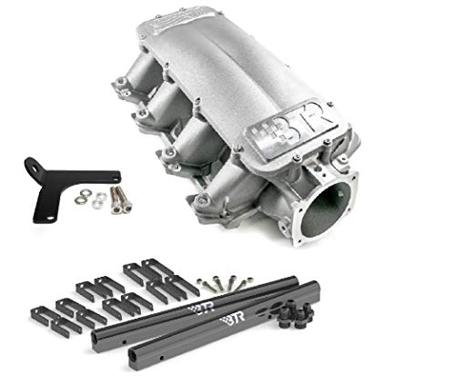 BTR Equalizer 1 Intake Manifold Cathedral Head Brian Tooley IMA-01 LS1 LS2 LS6 4.8 5.3 5.7 6.0 Includes Billet Fuel Rail Kit and Lokar Throttle Cable Bracket (Intake, Fuel Rails, Lokar Cable Bracket)