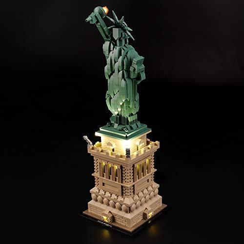 LIGHTAILING Jeu De Lumières pour (Architecture Statue de la Liberté) Modèle en Blocs De Construction - Kit De Lumière A LED Compatible avec Lego 21042(Ne Figurant Pas sur Le Modèle)