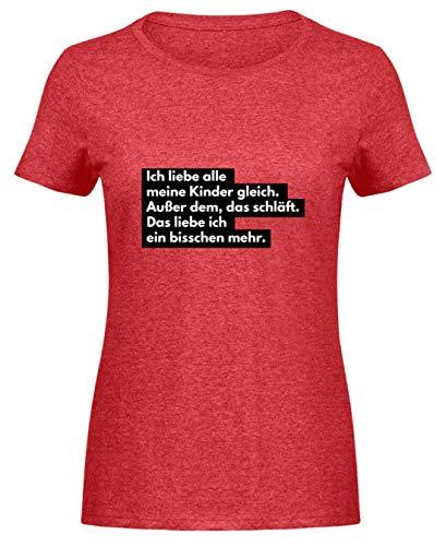 Mutter: Ich Liebe schlafende Kinder - Damen Melange Shirt -XXL-Heather Rot