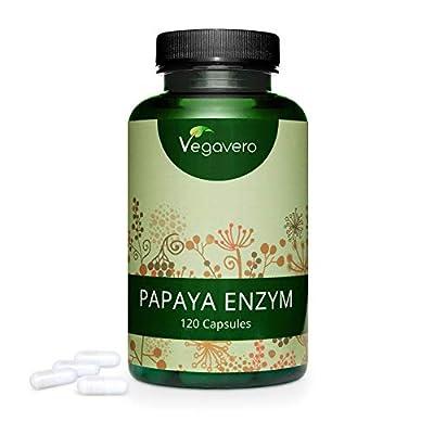 Papaya Enzymes Vegavero® | 500 mg per Capsule, High Dosage | Awareded First Place 2019* |100% Vegan