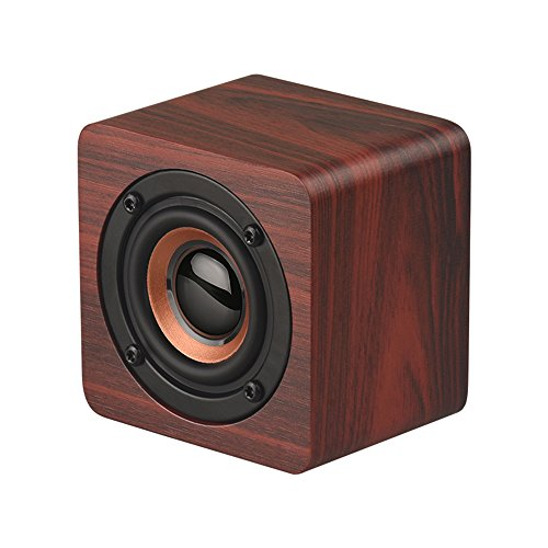 Docooler Q1 Mini Holz Bluetooth Lautsprecher Tragbarer Drahtloser Subwoofer Starker Bass Leistungsstarke Sound Box Musik Magic Cube für Smartphone Tablet Laptop