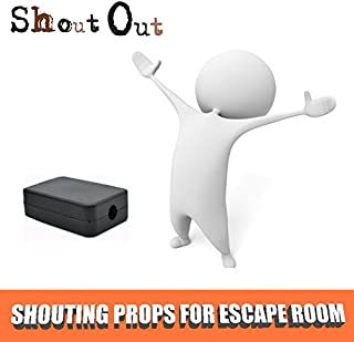Escape Room The Game Props Shouting Out to Light up LED Rell Control 12V Magenet Lock for Exit Game Owner