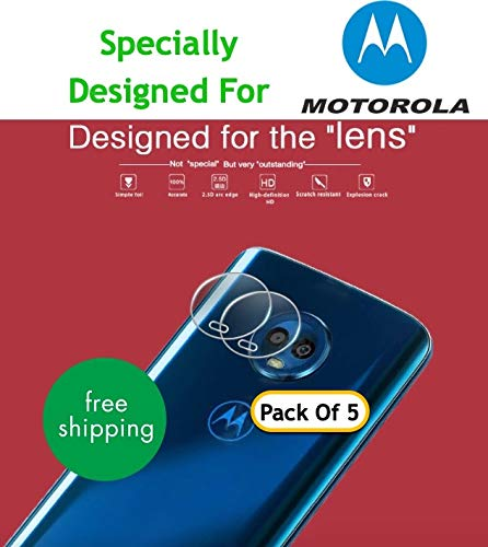 Gear Guard Flexible Nano Camera Lens Screen Protector For Motorola Moto X4 (Pack of 5)