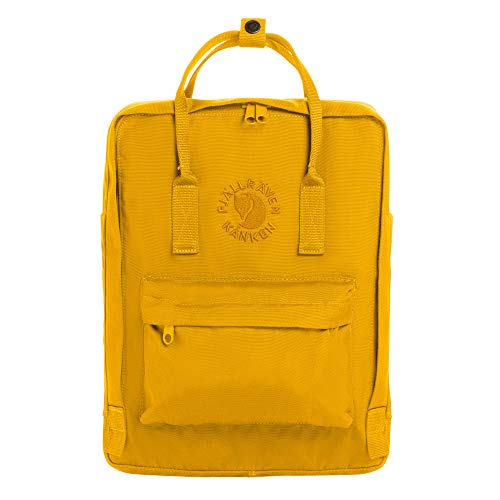 Fjällräven Re-Kånken Rucksack, Sunflower Yellow, 38 x 27 x 13 cm, 16 L