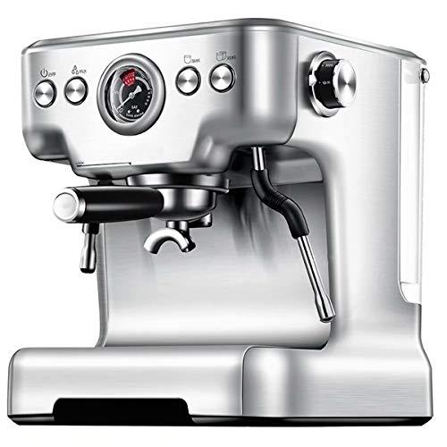 RZBQ Cafetera Espresso Tazas Tipo De Vapor Semiautomático 20Bar Hogar Comercial Espumador De Leche Acero Inoxidable 220V