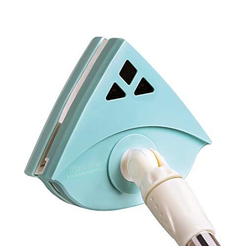 Limpiador De Ventanas Magnético, Cepillo De Limpieza De Superficies De Doble Cara Con Palo Largo, Cepillo De Limpieza Herramientas De Limpieza (Azul)