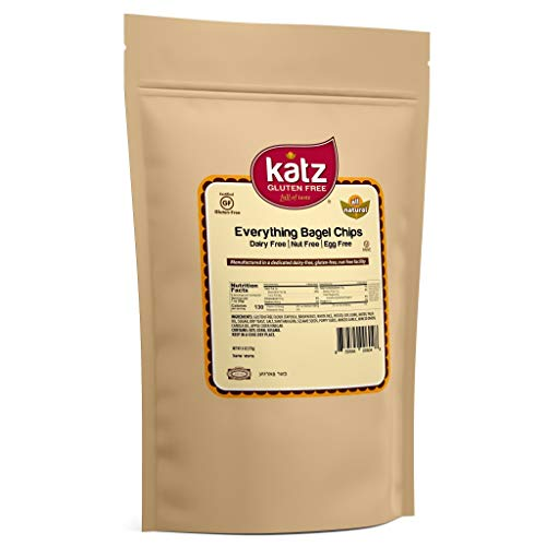 Katz Gluten Free Everything Bagel Chips | Dairy, Nut and Gluten Free | Kosher (1 Pack, 6 Ounce)