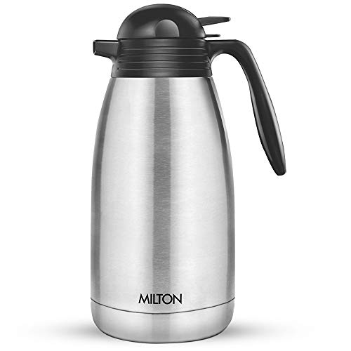 Milton Thermosteel Carafe for 24 hours Hot or Cold, 2000 ml, Silver