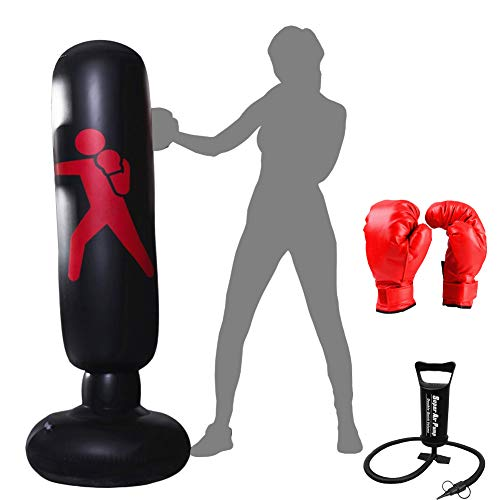 Xloves 160CM Punching Ball Gonflable pour Adulte, Sac...