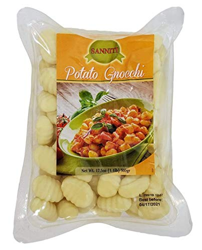 Sanniti Potato Gnocchi, 1.1 lbs (Pack of 4)
