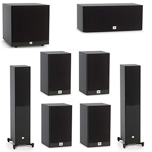 Lowest Prices! JBL 7.1 System with 2 JBL Stage A170 Floorstanding Speakers, 1 JBL Stage A125C Center Speaker, 4 JBL Stage A120 Bookshelf Speakers, 1 JBL Stage A120P Subwoofer