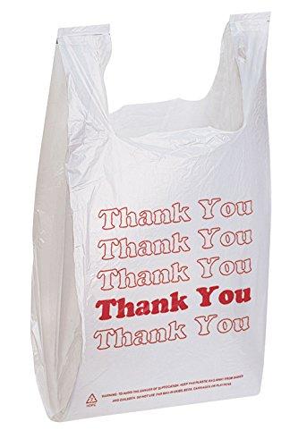 "Thank You Bags pk. of 1000-11 ½"" x 6"" x 21"" - Thickness .48mil HDPE- Standard Supermarket Size"