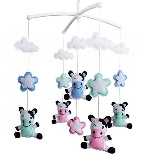 Décoration de pépinière de cadeau de jouet mobile de lit de bébé fait main pour 0-2 ans, MQ38