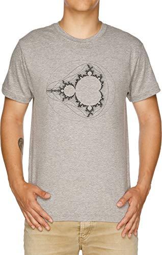 Grau - Linear Mandelbrots Herren T-Shirt Grau