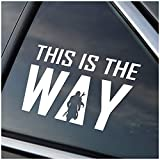 Stick'emAll This is The Way Mando Silhouette Car Decal