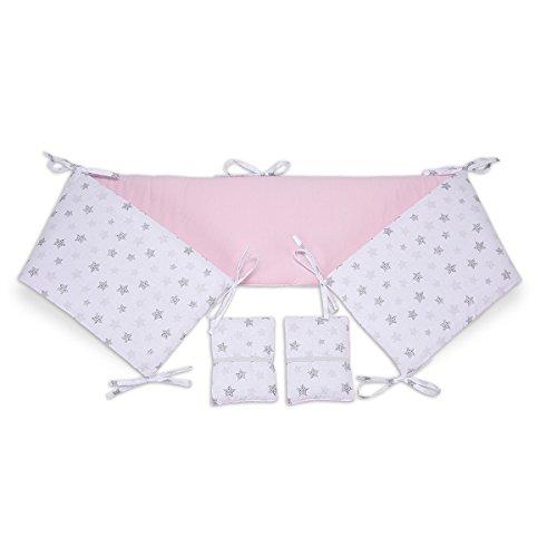 FabiMax 3654 Nestchen für Beistellbett Pro, 90x40 cm, Sterne klein, rosa