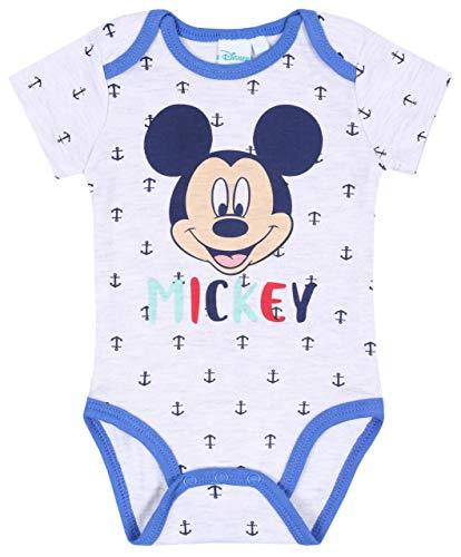 Body bébé Gris Mickey Mouse Disney 9 Mois