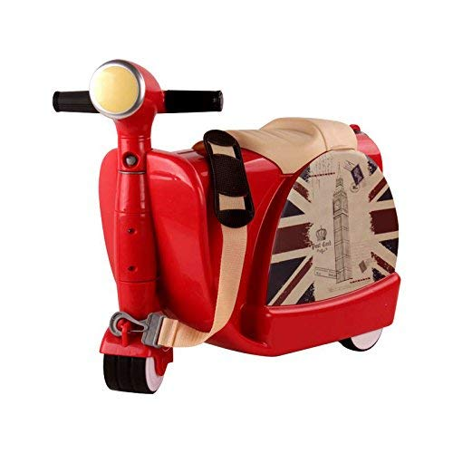 Child suitcase, hand luggage ride on and carry suitcase suitcase backpacks bags luggage fit 3-year-old children,Red
