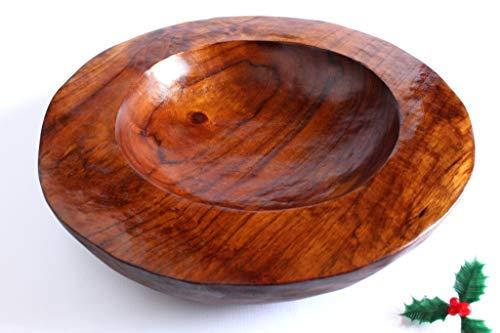 Gran tazón de madera de teca, regalo único hecho a mano para Navidad, Calentamiento de la casa, Boda, para él o ella. Franqueo seguido GRATIS.