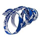 CarbonEnmy Cinta para manillar de bicicleta de carreras, con asas de corcho, azul / blanco